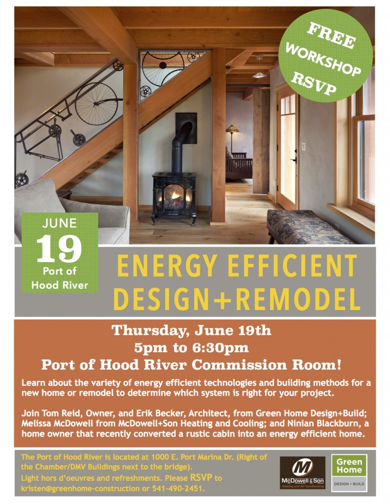 Energy Efficient Design and Remodel Flyer